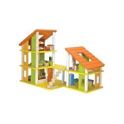 Chalet maison de poupées avec mobilier