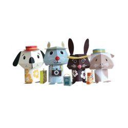Paper toys Jet Set Pets