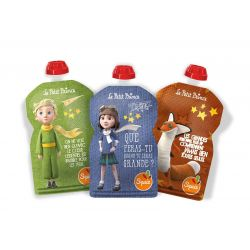Lot de 3 gourdes réutilisables Petit Prince Imagination SQUIZ
