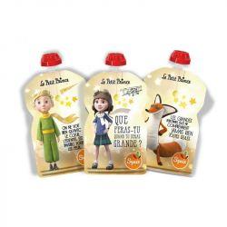 Lot de 3 gourdes réutilisables Petit Prince Etoiles SQUIZ