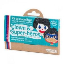 Kit de maquillage 3 couleurs Clown et super-héros
