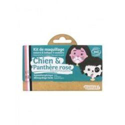 Kit de maquillage 3 couleurs Chien et panthère rose