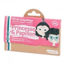 Kit de maquillage 3 couleurs Princesse et papillon