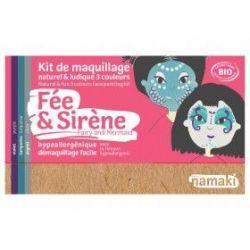Kit de maquillage 3 couleurs Fée et sirène