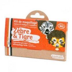 Kit de maquillage 3 couleurs Zèbre et tigre