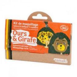 Kit de maquillage 3 couleurs Ours et girafe