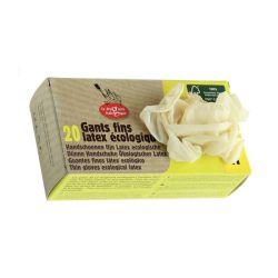 Boîte de 20 gants en latex fin FSC100%