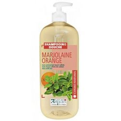 Shampoing douche Marjolaine Orange Cosmo Naturel  Bio 1L