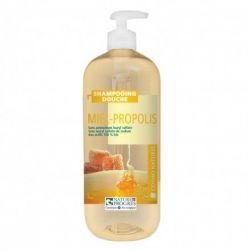 Shampoing douche Miel Propolis Cosmo Naturel  Bio 1L