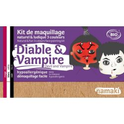 Kit de maquillage bio 3 couleurs Diable et Vampire