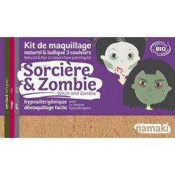 Kit de maquillage bio 3 couleurs Sorcière et Zombie