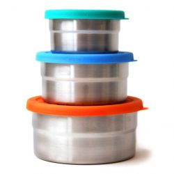 ECOlunchbox lot de 3 boîtes inox et silicone