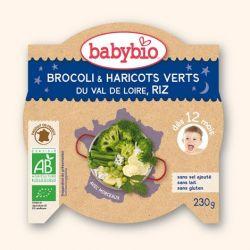 Assiette Bonne Nuit brocoli, haricots verts,riz 12 mois+