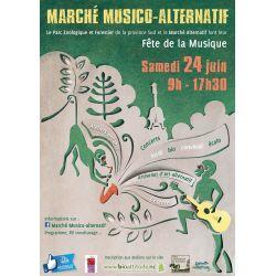Marché musico-alternatif, atelier enfants Land'Art 3-12 ans