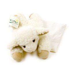 Bouillotte agneau en laine noyaux de cerises
