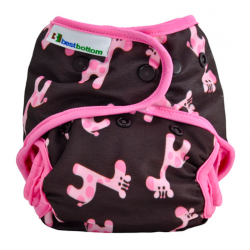 Couche lavable multi tailles BestBottom -  Girafe Rose