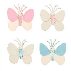 Doudou papillon pour nourrisson et enfant prématuré