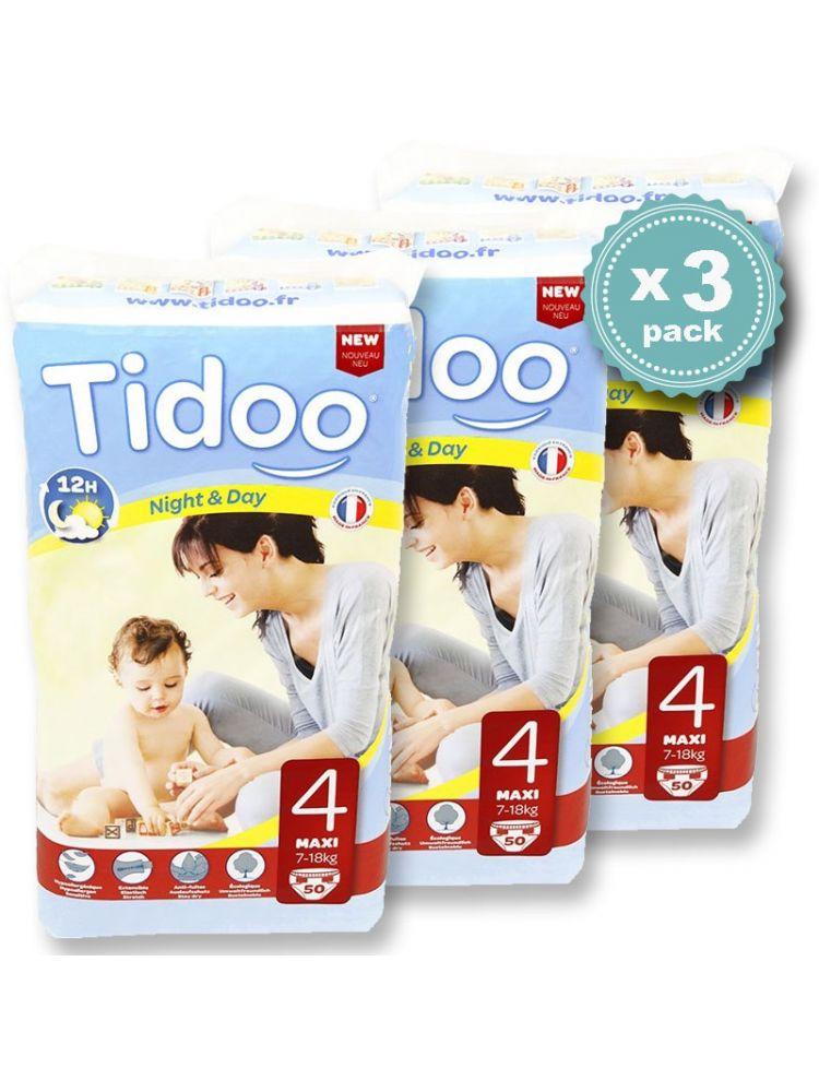Pack économique 7 à 18 Kgs T4 Couches Night Day Tidoo Bio