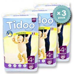 Pack économique 9 à 20 kgs T4+ couches night & day TIDOO