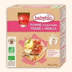Gourdes pomme fraise vanille + 6 mois par 4