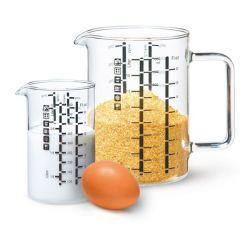 Set de 2 verres mesureurs 1L et 500ml