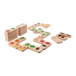 Domino fruits et légumes en bois