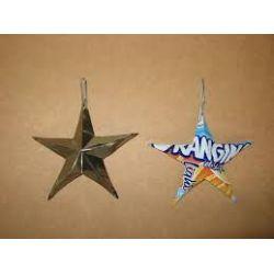 étoiles de noel en récup
