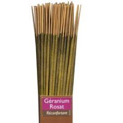 Bâtonnet encens 100% naturel Géranium Rosa