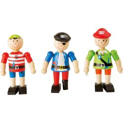 Figurines en bois pirates