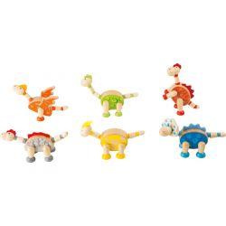 Figurines en bois dinosaures