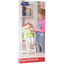 Chaise haute de poupée en bois