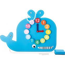 Horloge éducative Baleine