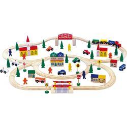 Grand chemin de fer en bois