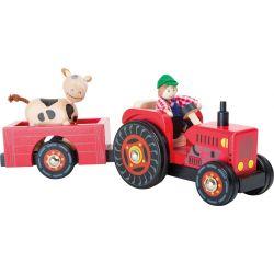 Le tracteur et sa remorque