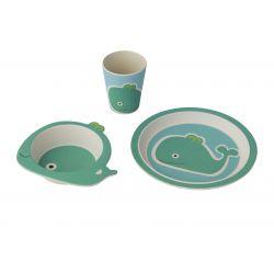 Set repas enfant 3 pièces Baleine