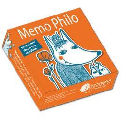 Mémo philo - jeu de cartes en boîte cloche