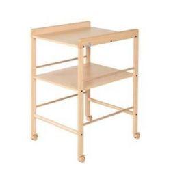 Table à langer avec étagère en bois naturel
