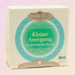 "Thé vert bio Hari Tea, ""Circulation"",  thé vert ,menthe et piment"