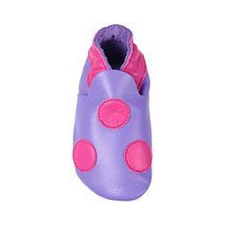 Violet point rose: chaussons en cuir souple
