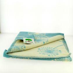 Plaid couverture en coton bio fleur