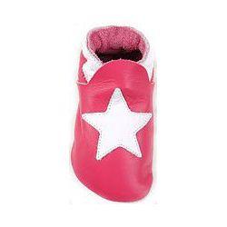 Rose étoile blanche: chaussons en cuir souple