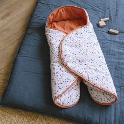 Couverture nomade Terrazzo - Rouille