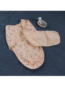 Couverture d'emmaillotage en mousseline de coton bio Lémurien - Pêche et Orage