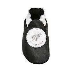 Noir Nouvelle Zélande chaussons en cuir souple