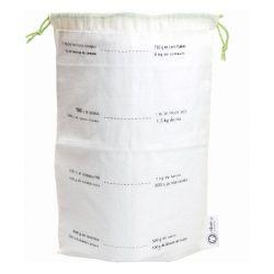 Lot de 5 sacs gradués en coton bio taille M