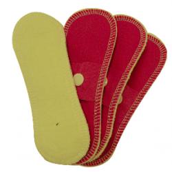 Lot 4 Mini protège slip lavable imperméable - Coton Bio - Framboise