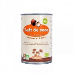 Lait de coco 15% MG, Bio Equitable 400ml