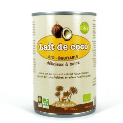 Lait de coco 6% MG, Bio Equitable 400ml