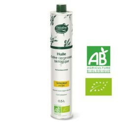 Huile vierge extra d'olive biologique Escofine 500ml