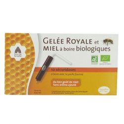 Gelée royale et miel à boire bio en unidoses